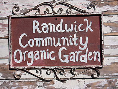 Randwick Community Organic gGarden sign Photo: Russ Grayson