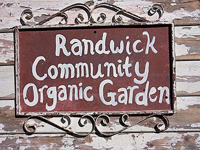 Randwick Community Organic gGarden sign Photo: Russ Grayson