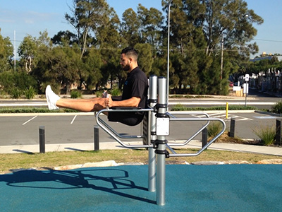 New gym stations at Chifley Sports Reserve