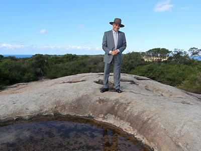The Mayor at Malabar Headland