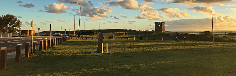 Proposed location for the La Perouse monument. Looking south along Anzac Parade.