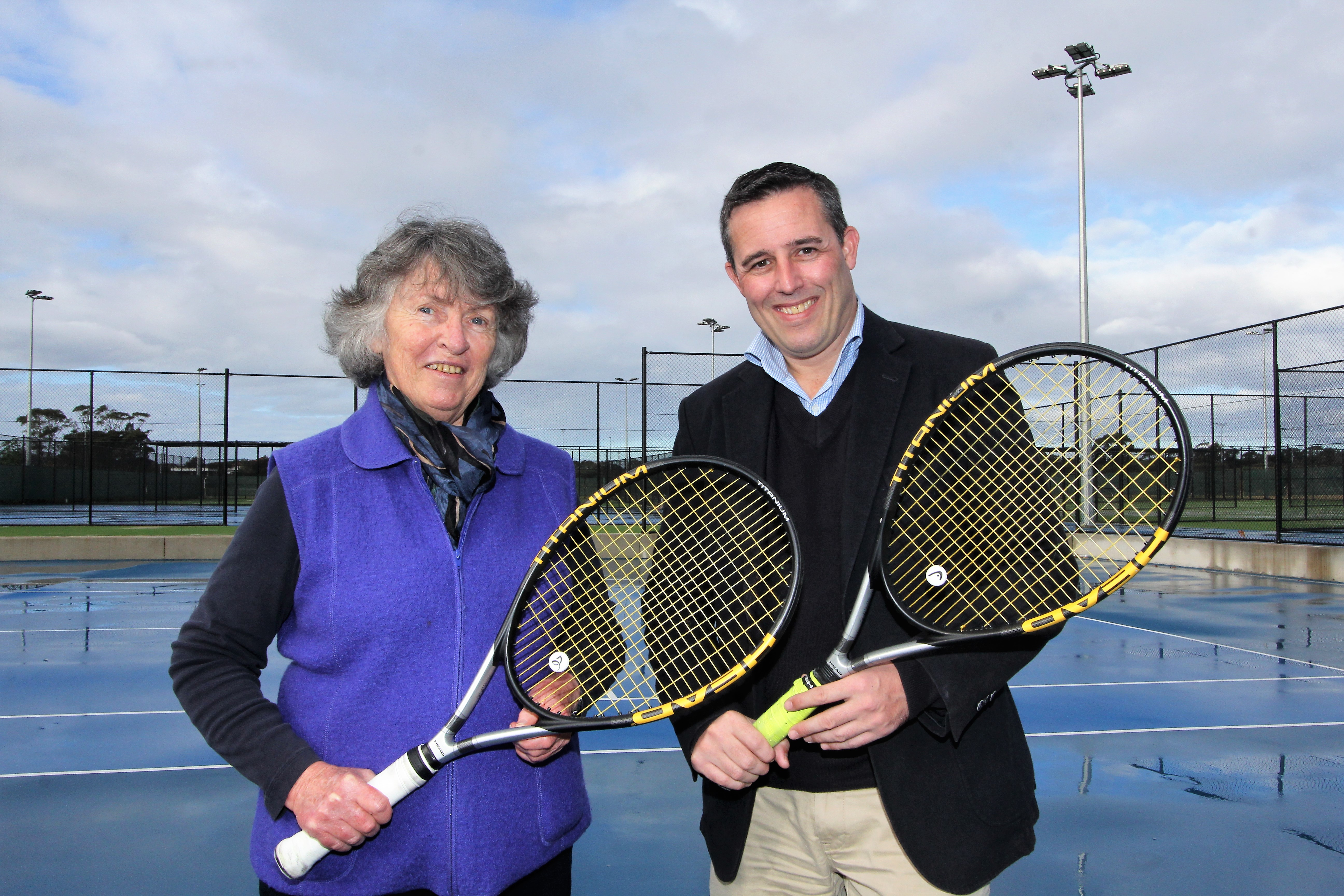 Mayor Kathy Neilson at tennis centre