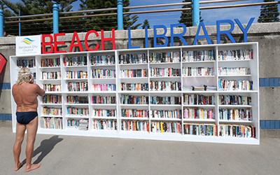 library at the beach