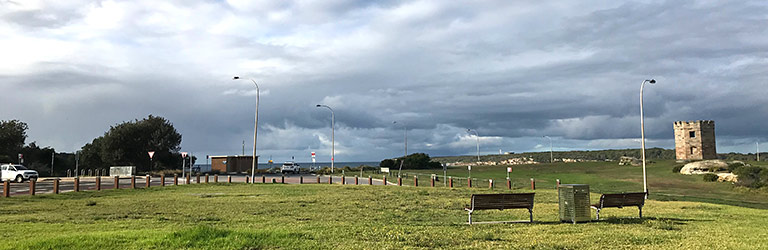 Proposed location for the La Perouse monument. Picture taken looking south east along Anzac Parade.