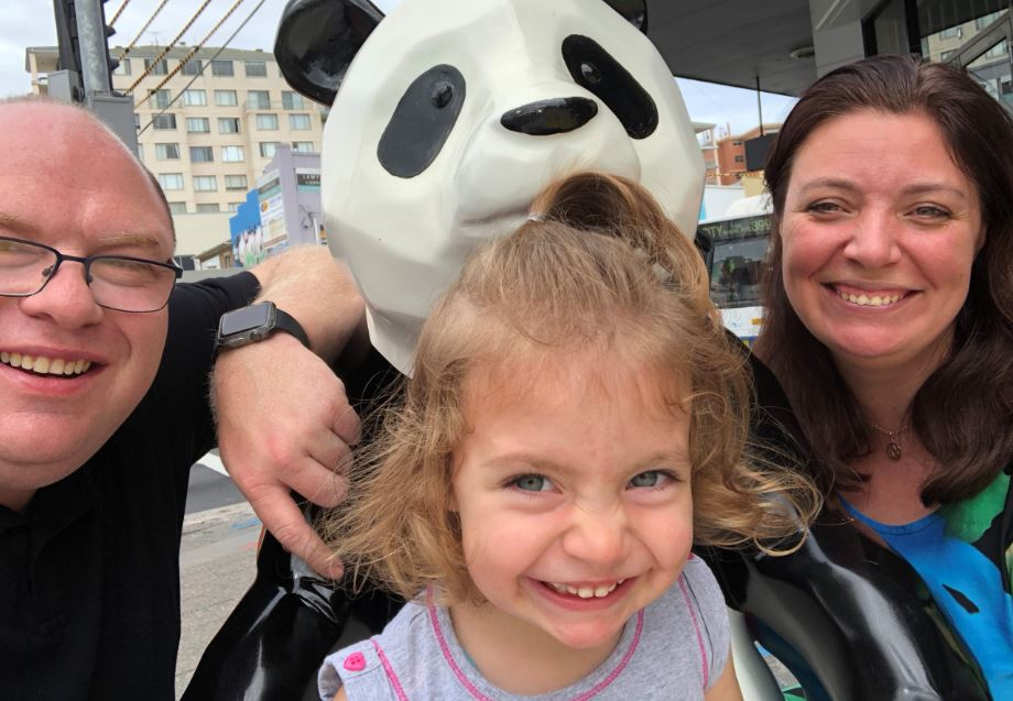 The winning entry in the Panda Pix competition by Michael from Kingsford.