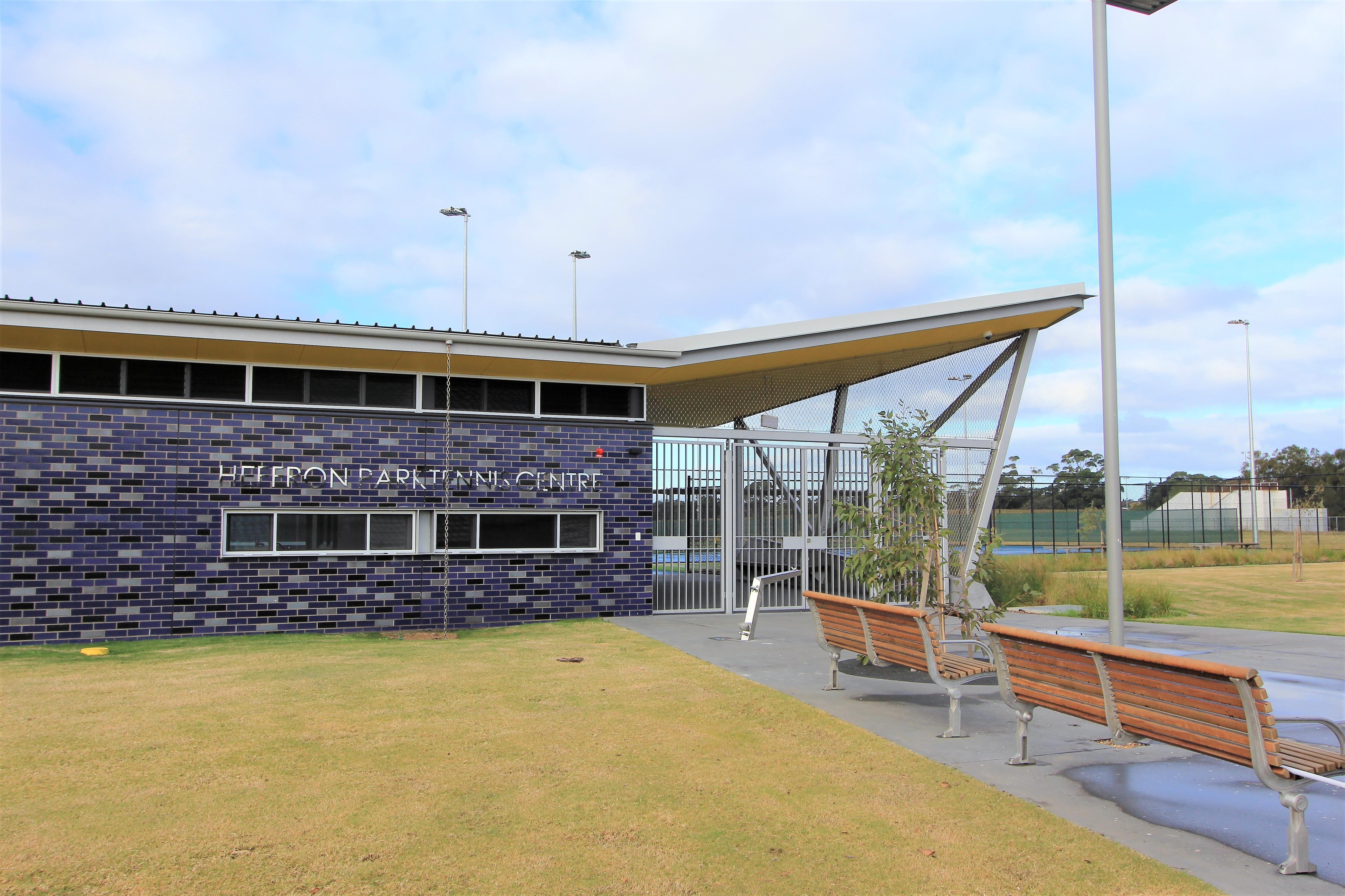 Heffron park Tennis Centre - outside view