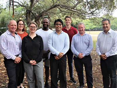 Randwick Mayor Danny Said with Randwick Council staff members David, Renee, Chelsea,  Karl, Frank, Timothy and Andrew who are heading to Bega to assist in bushfire recovery efforts.
