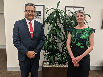Deputy Mayor Philipa Veitch and Mayor Danny Said.