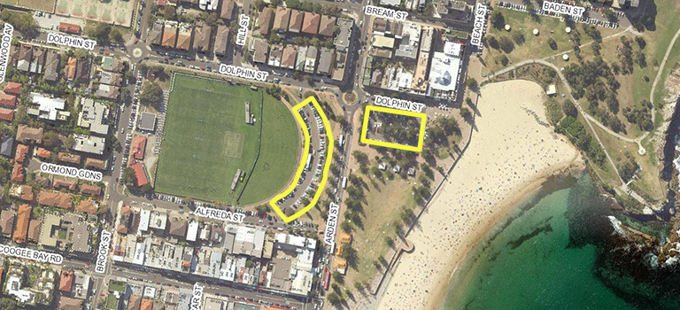 Map of Coogee smart parking trial location