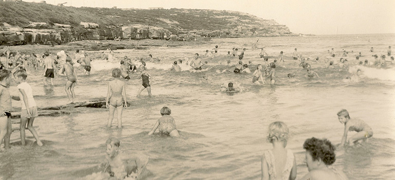 Children swimming at Malabar c1950s: Courtesy Ray Mascord Collection Randwick City Library