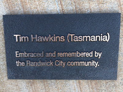 Tim Hawkins name added to the memorial site