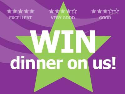 Win dinner on us!