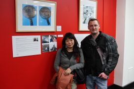 Migrant-participant-Yuki-Takano,-her-husband-and-her-exhibits.jpg
