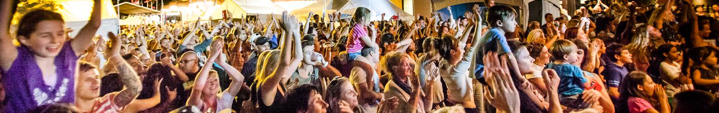 Crowds enjoying the Spot festival