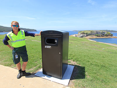 Smart bins are being trialled at La Perouse.