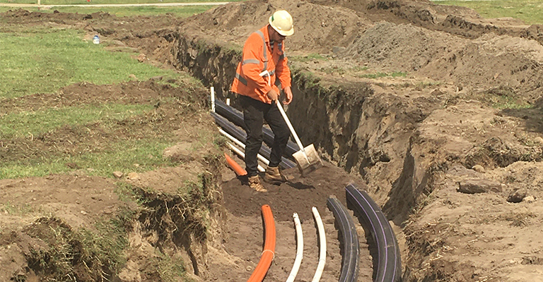 We laid underground pipes to move the stormwater throughout Maroubra's parks and reserves.