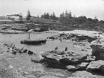 Little Coogee (later Clovelly) Beach, C. 1900-10.