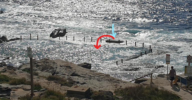 How the rock ended up in Mahon Pool.