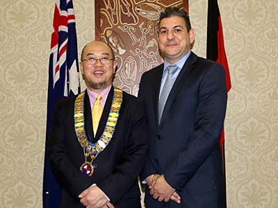 Newly elected Randwick Mayor Councillor Ted Seng with Deputy Mayor Councillor Anthony Andrews.
