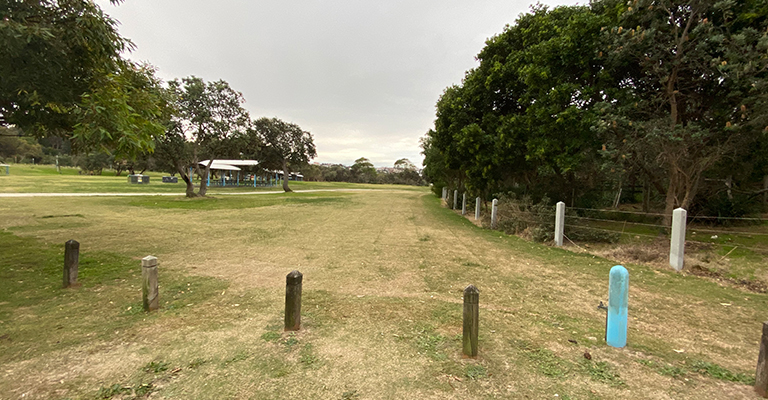 The site of the soon-to-be-built amenities in Arthur Byrne Reserve.