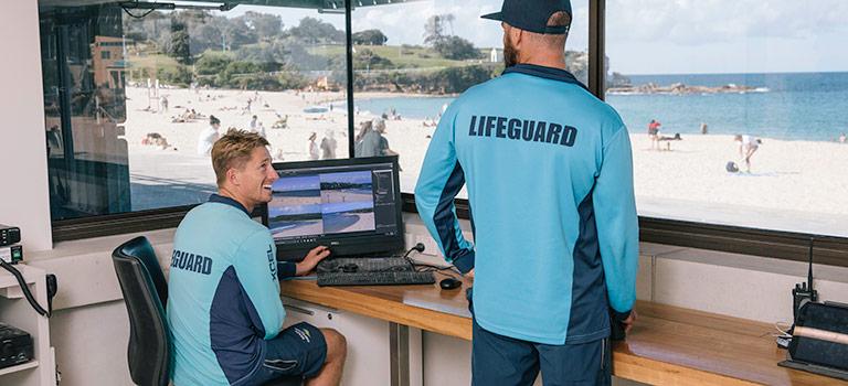 Lifeguards at the beach