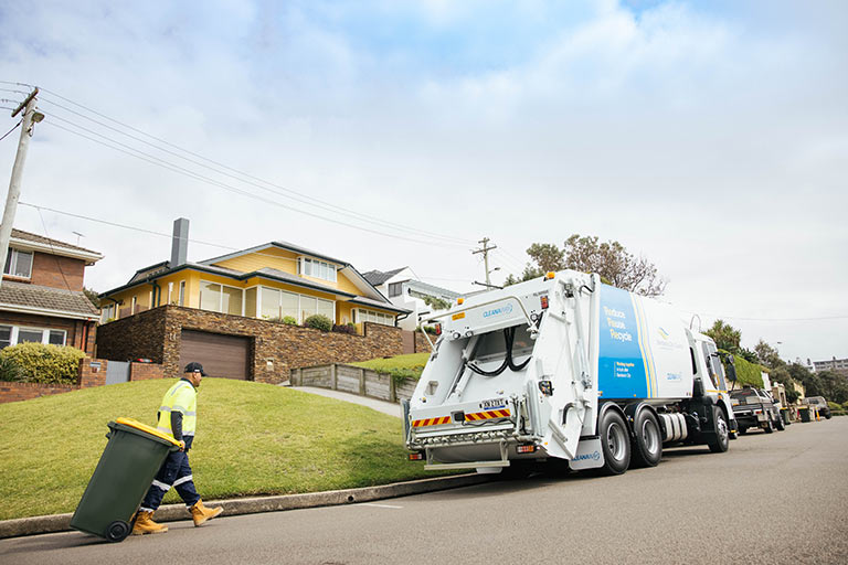A new Randwick Council garbage truck.