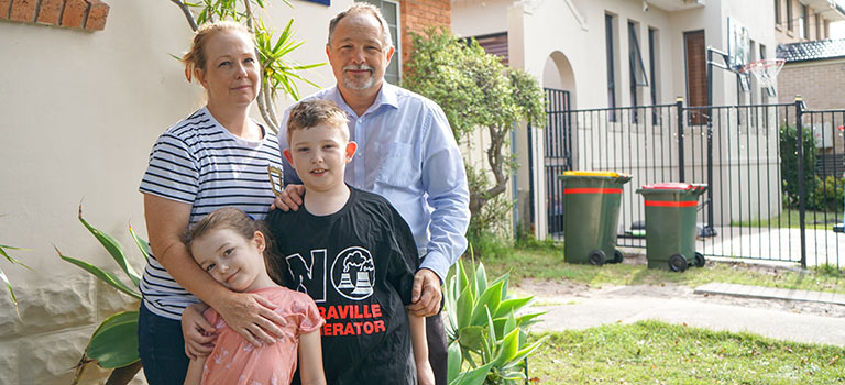 The Pollak family from Matraville are among thousands who will be affected.