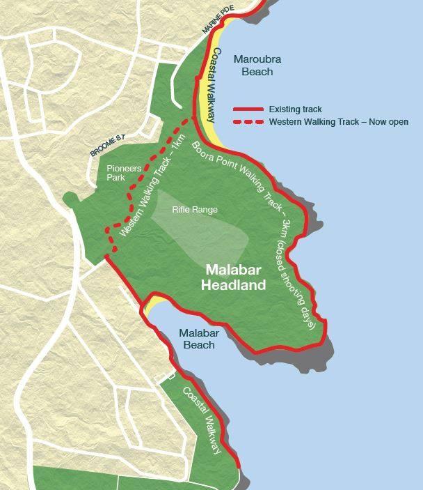 Western Walking Track Map