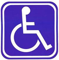 Mobility Parking sign