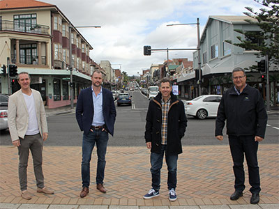 Coogee business owners with Mayor Danny Said.
