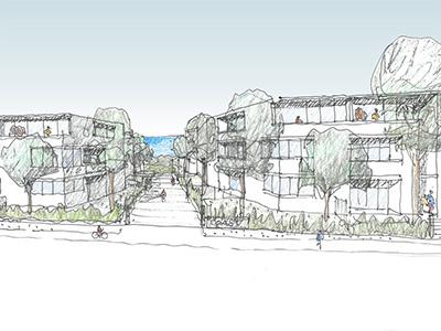 Artist impression of concept for 11 Jennifer Street, Little Bay